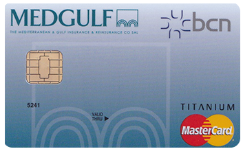 BCN Medgulf Titanium Charge Card